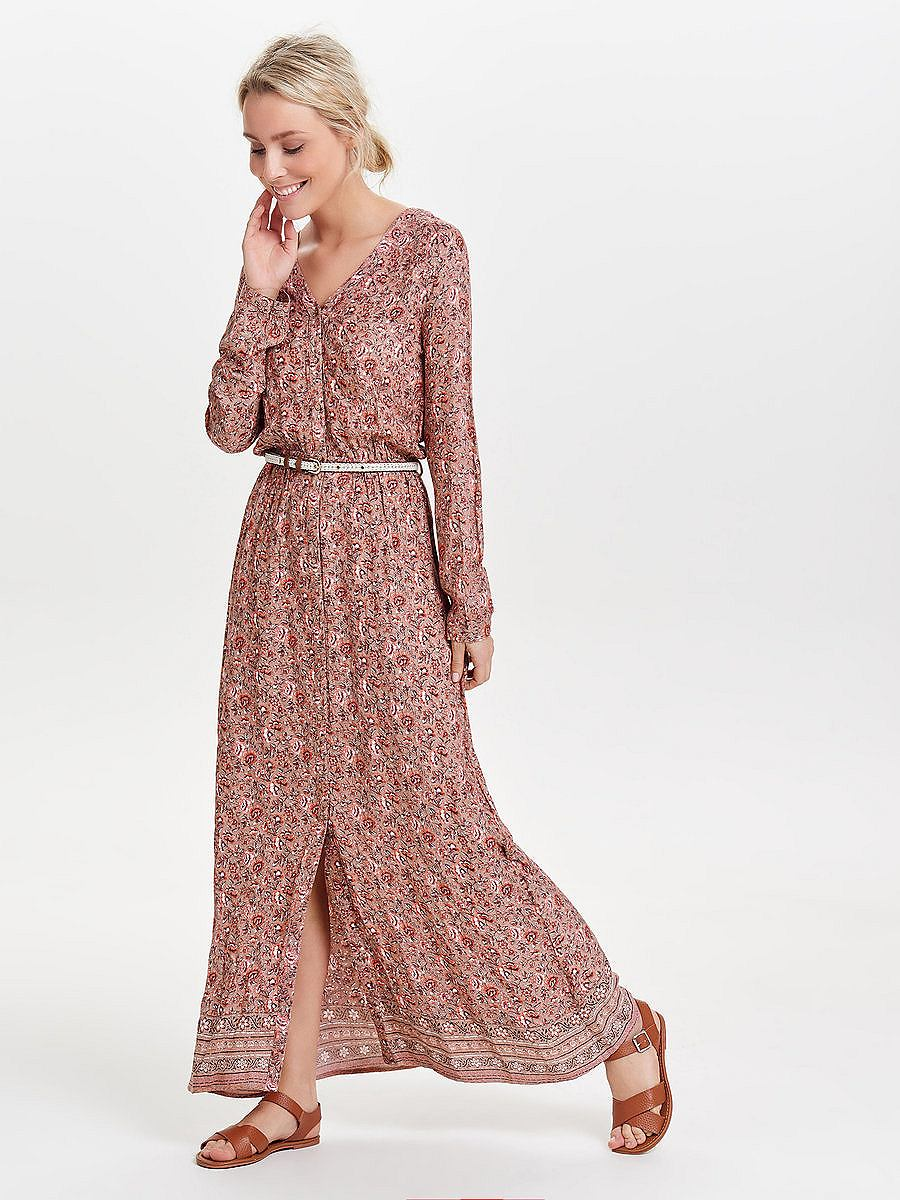 ONLY Vintage Maxi jurk multicolor
