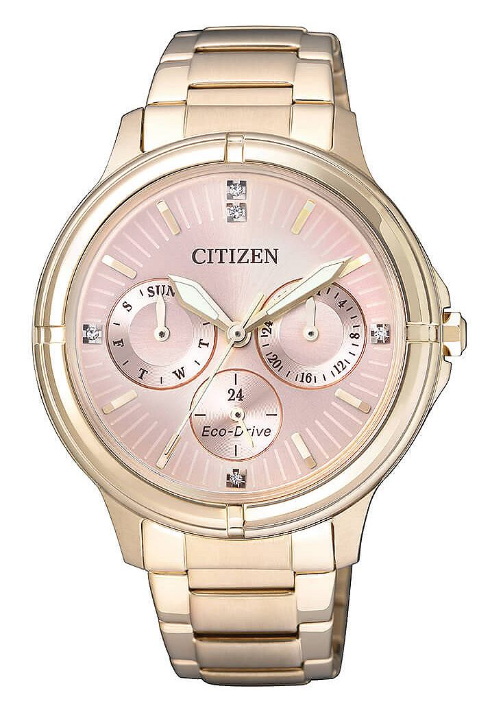 CITIZEN multifunctioneel horloge met Swarovski-kristallen, »FD2033-52W«