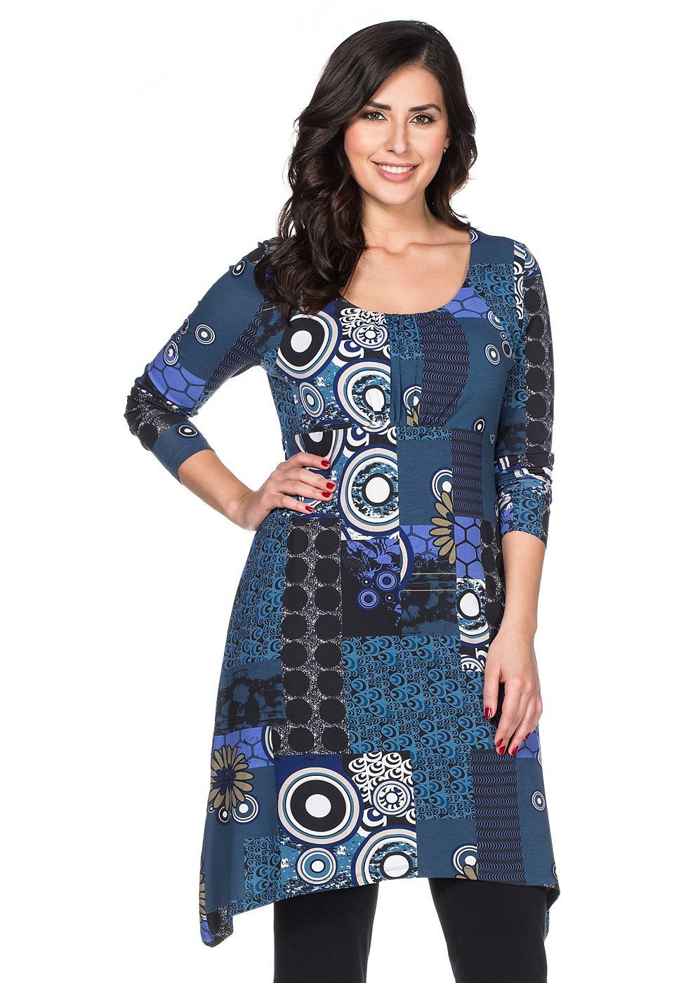 Joe Browns jersey-jurk met bindstrik blauw