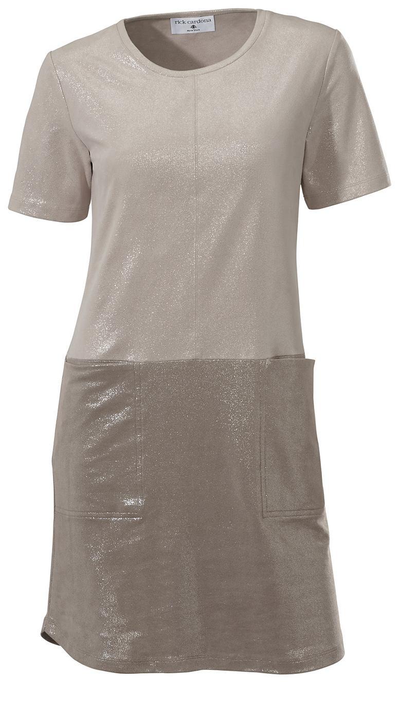 jurk van imitatieleer zilver