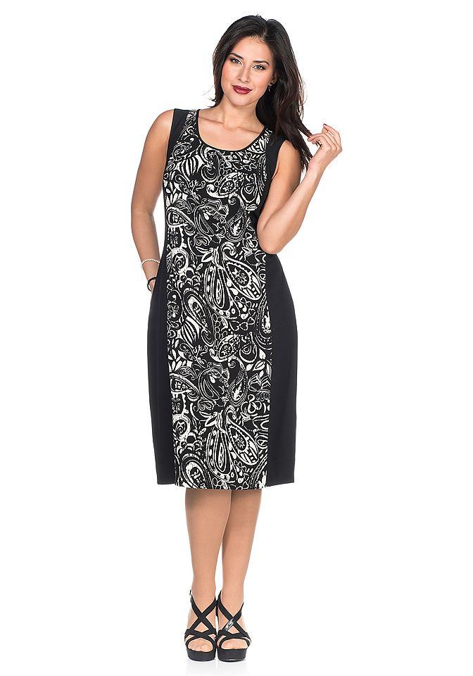 Sheego Style jurk zwart
