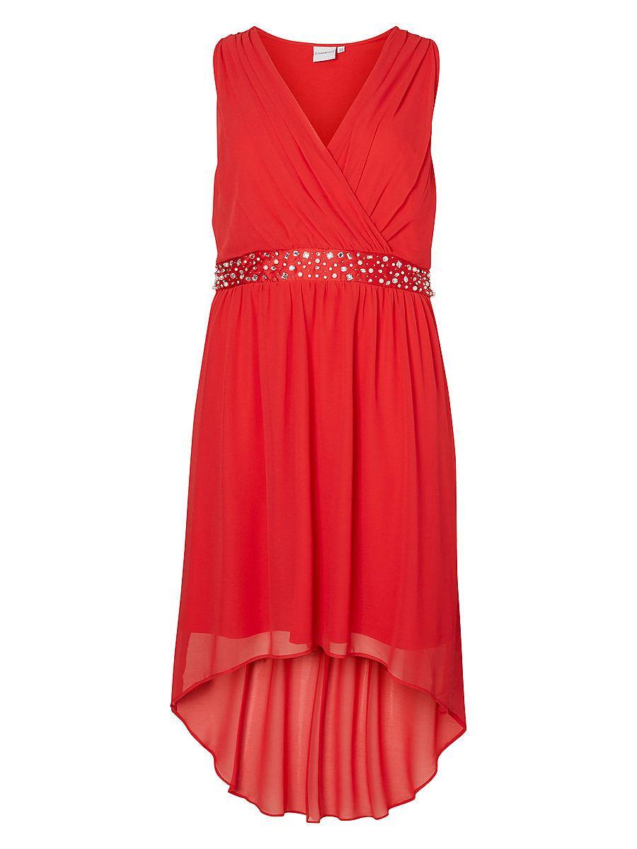 Junarose High-low jurk rood
