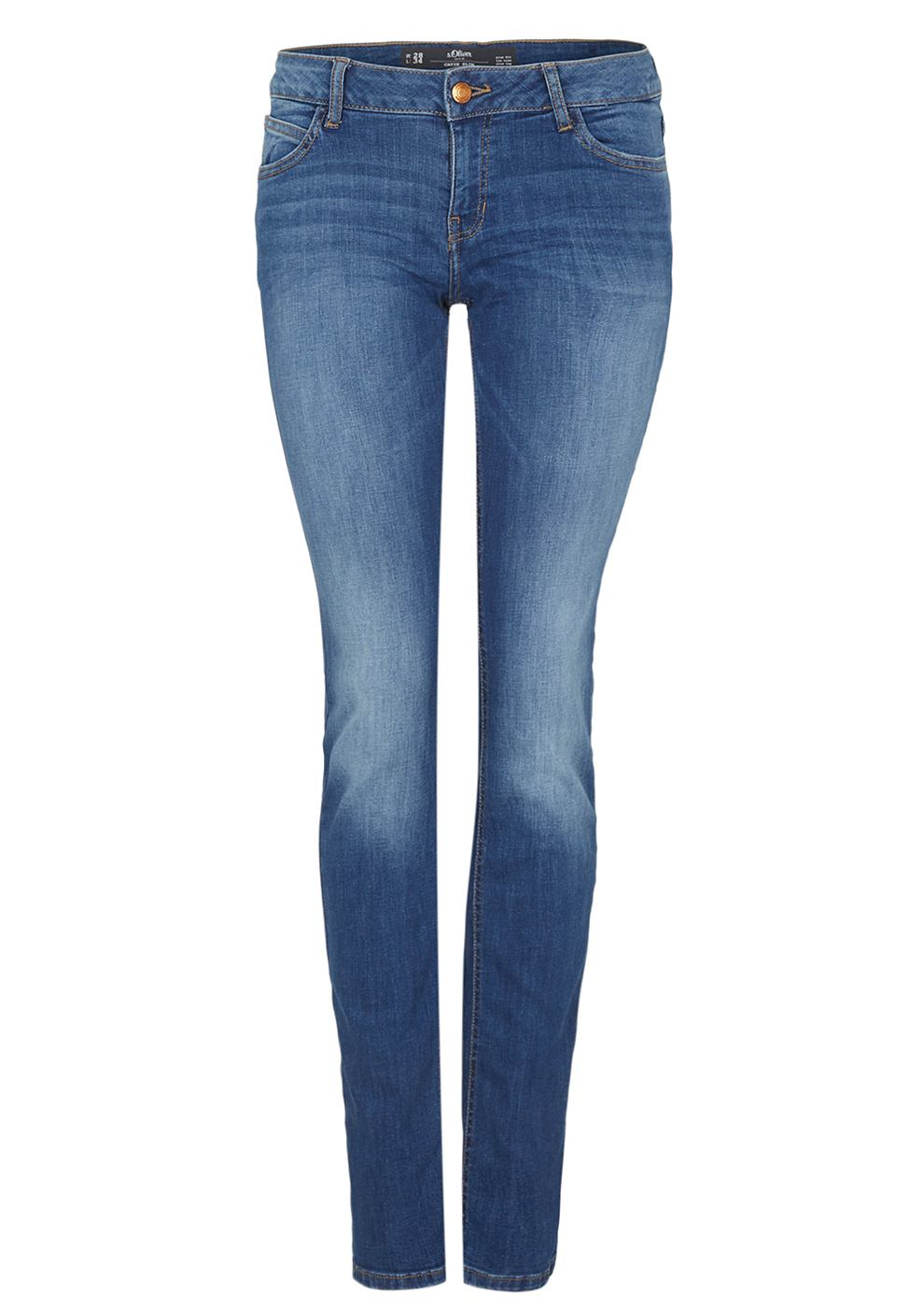 s oliver denim catie slim slim fit jeans met een used. Black Bedroom Furniture Sets. Home Design Ideas