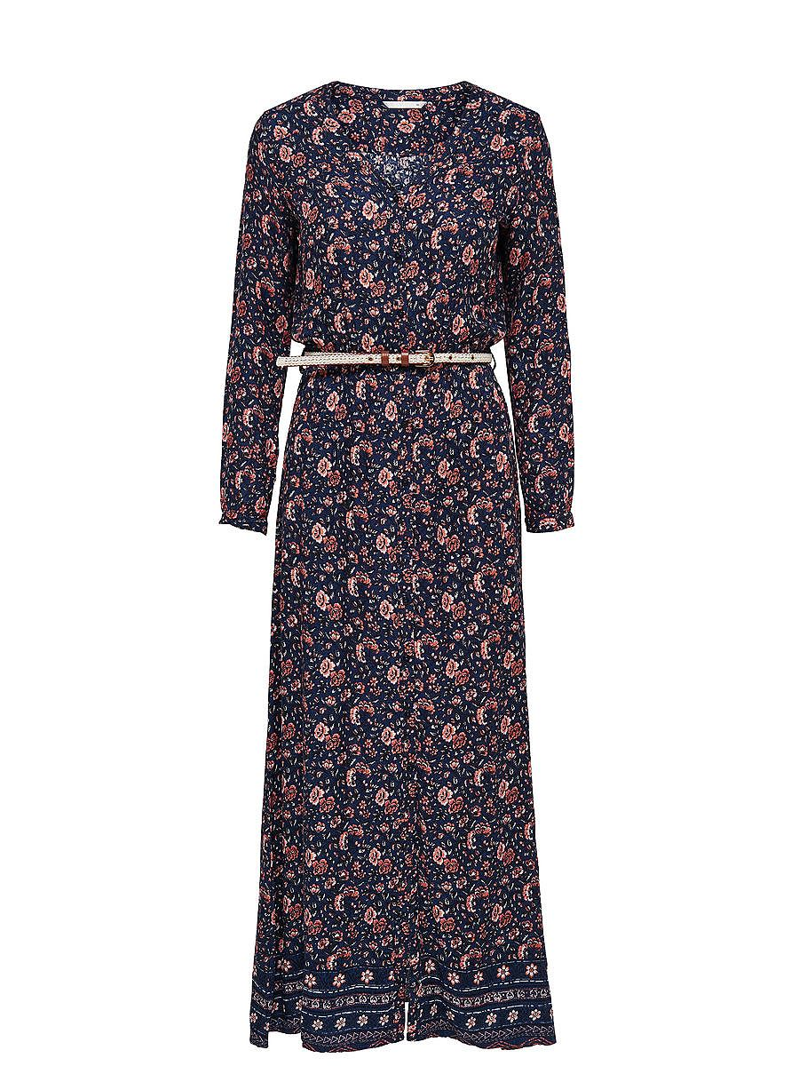 ONLY Vintage Maxi jurk blauw