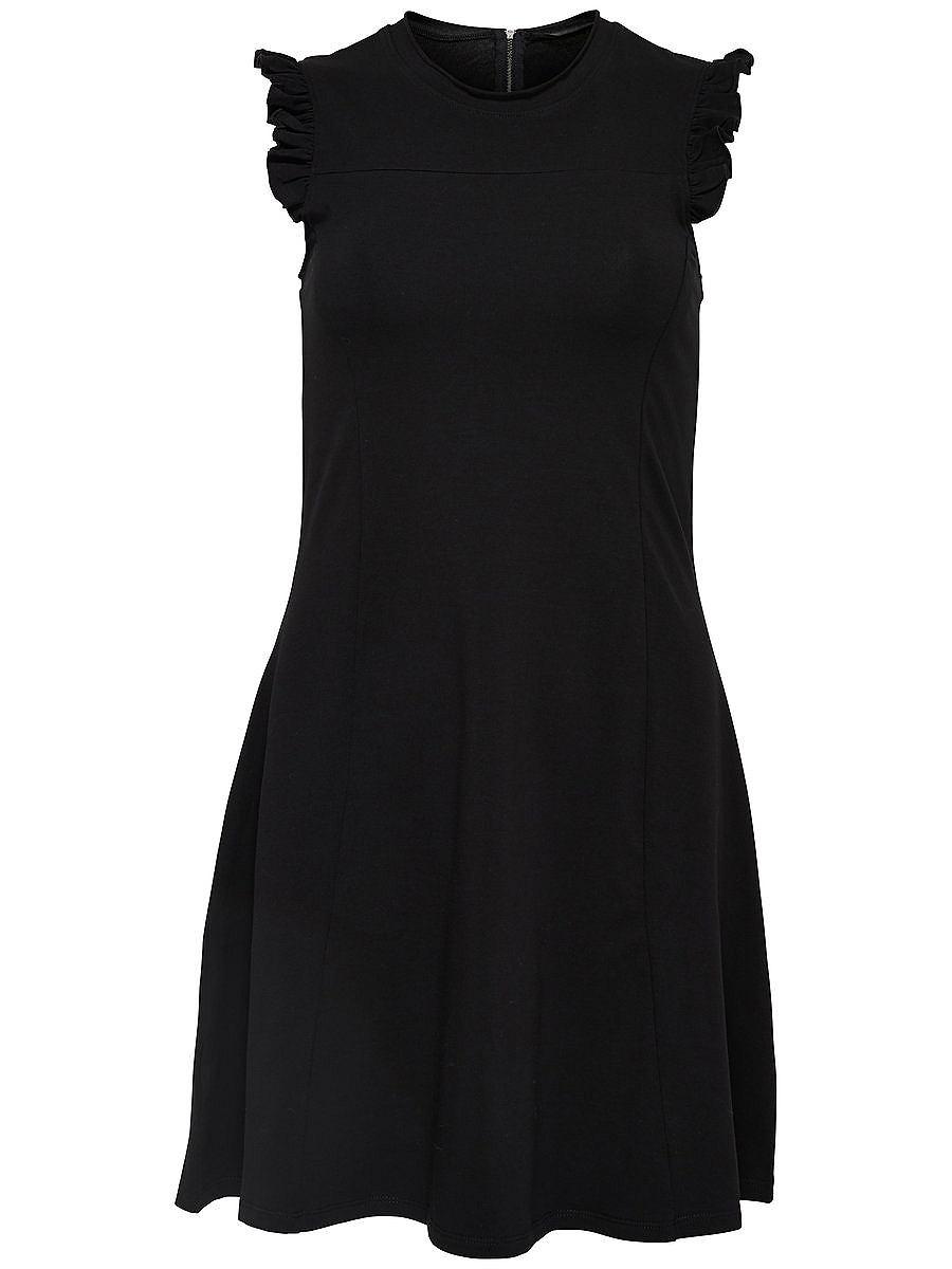 ONLY Ruche Mouwloze jurk zwart