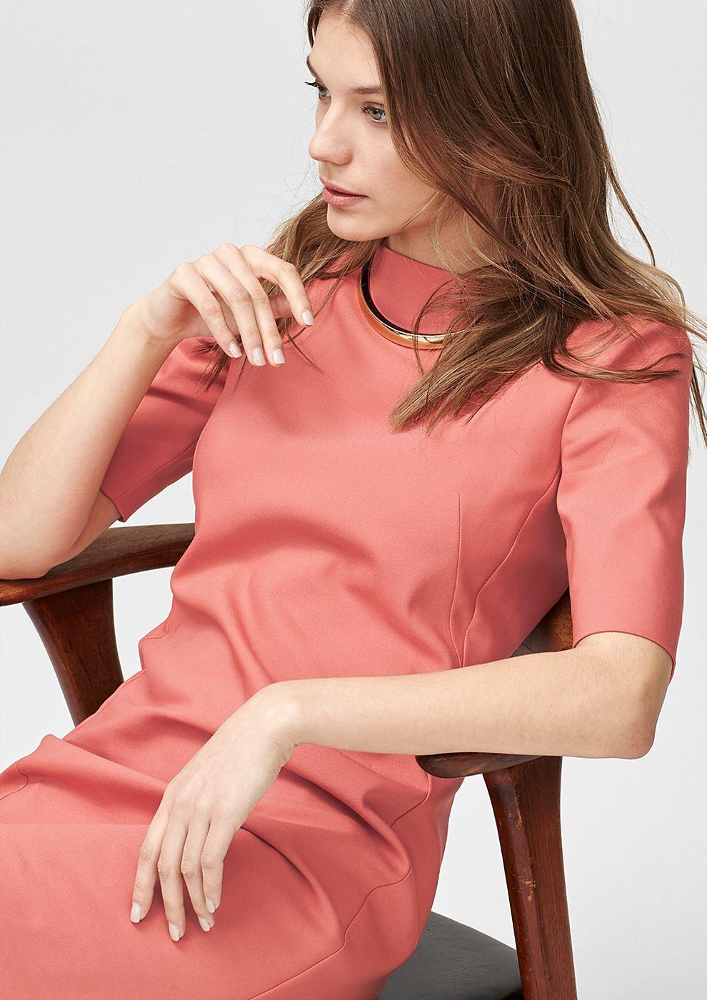 s.Oliver Premium Aansluitende jurk van stretchkatoen rood