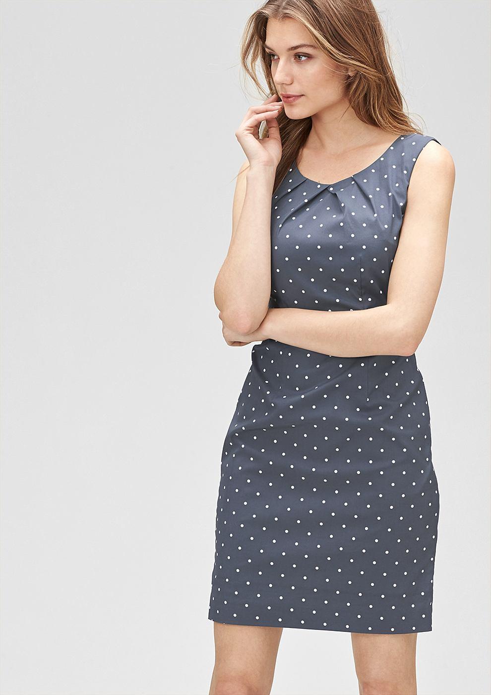 s.Oliver Premium jurk met een motiefprint grijs