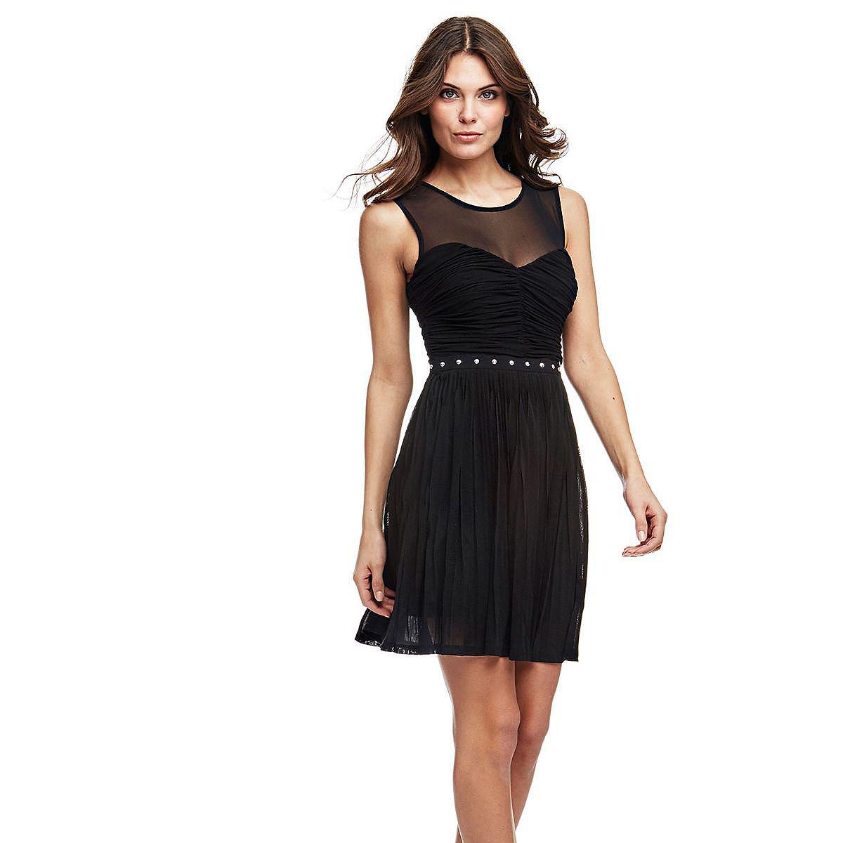Guess jurk met mesh zwart