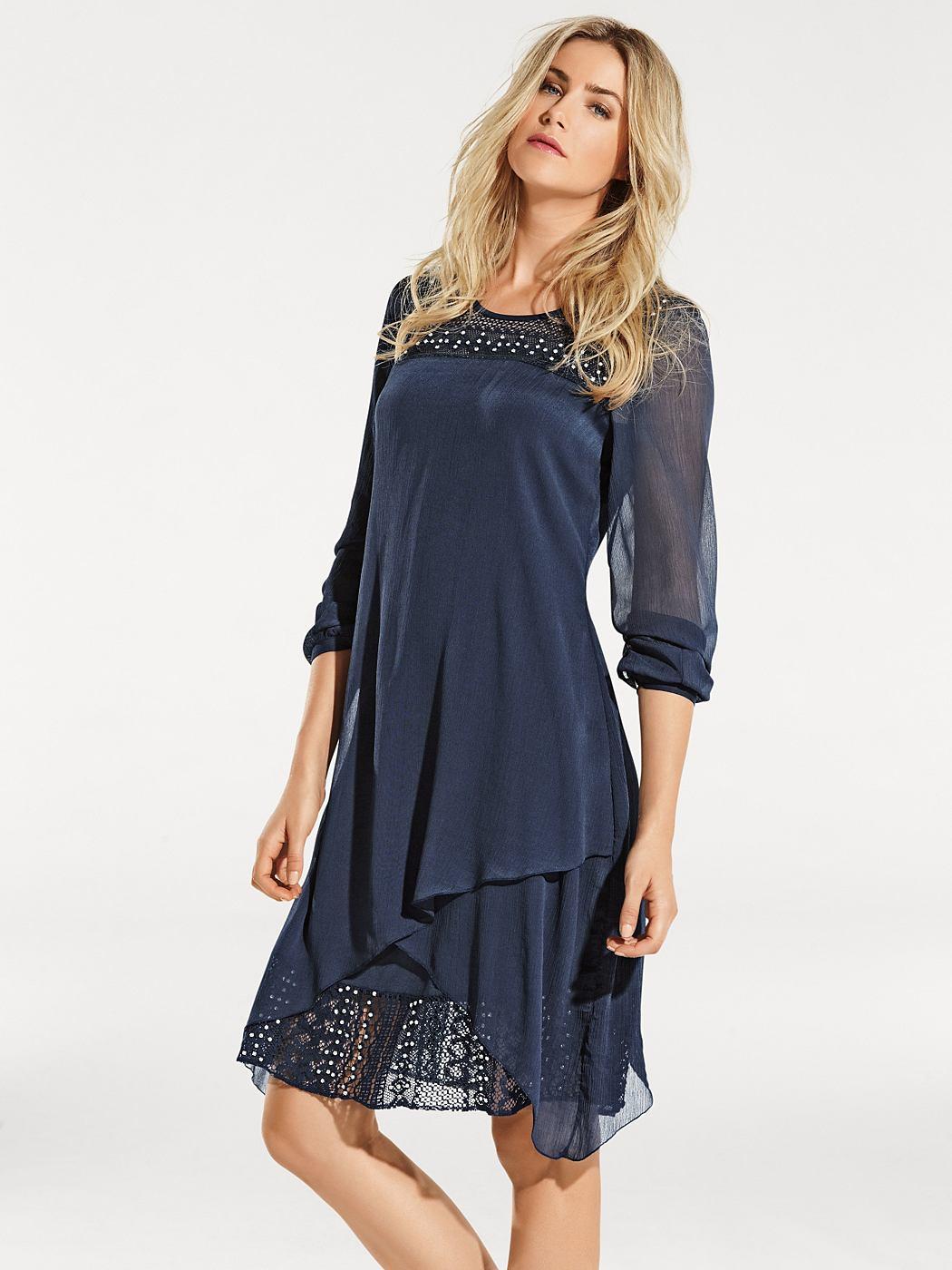 kanten jurk blauw