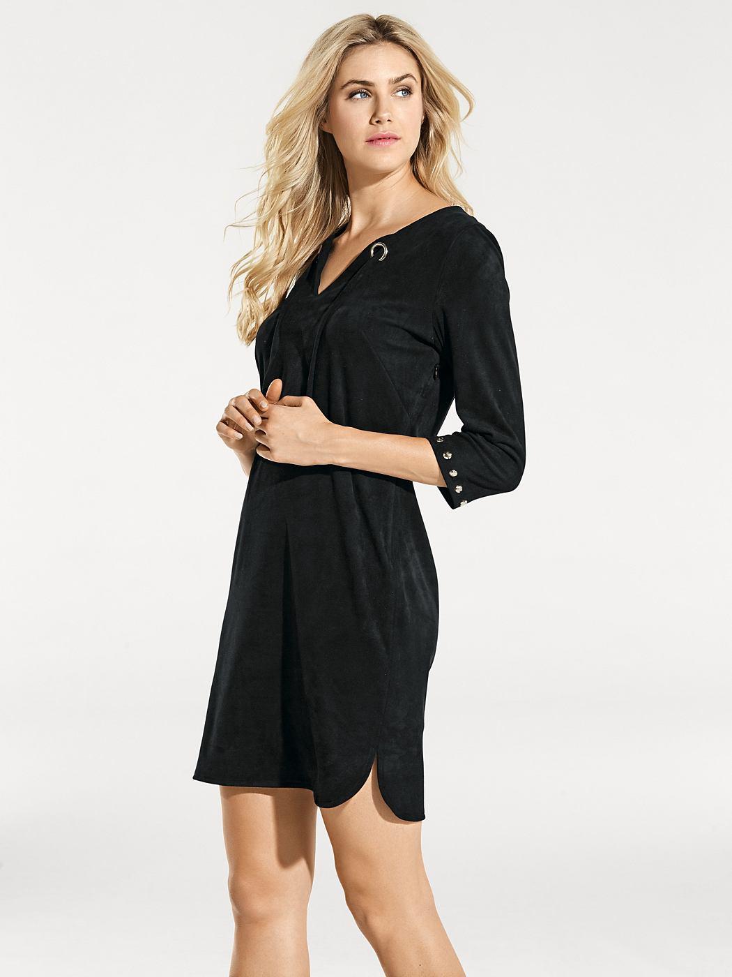 jurk van imitatieleer zwart
