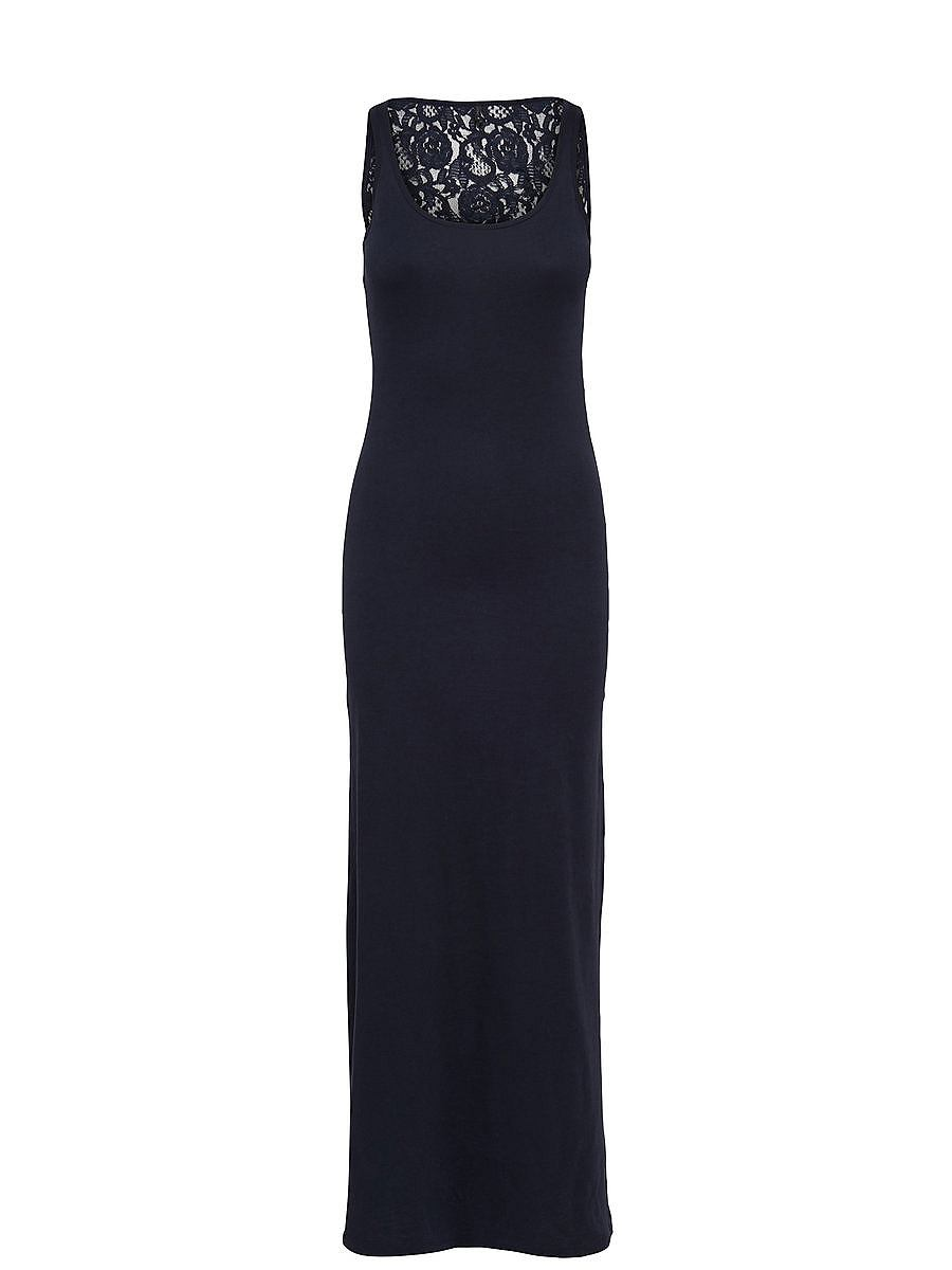 NU 15% KORTING: ONLY kanten Maxi jurk blauw