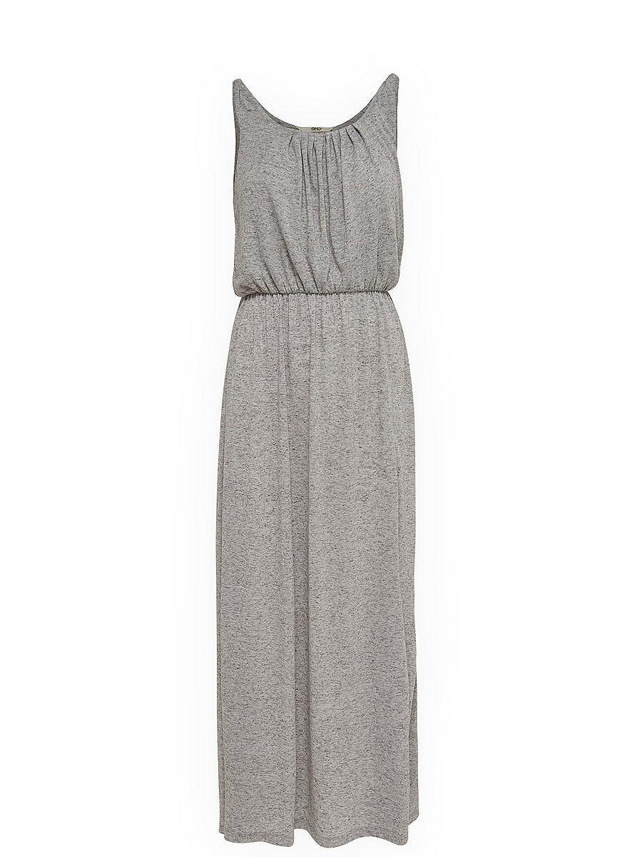 NU 15% KORTING: ONLY Mouwloze Maxi jurk grijs