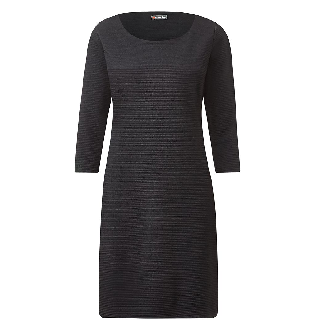 Street One Geribde jurk Ina zwart