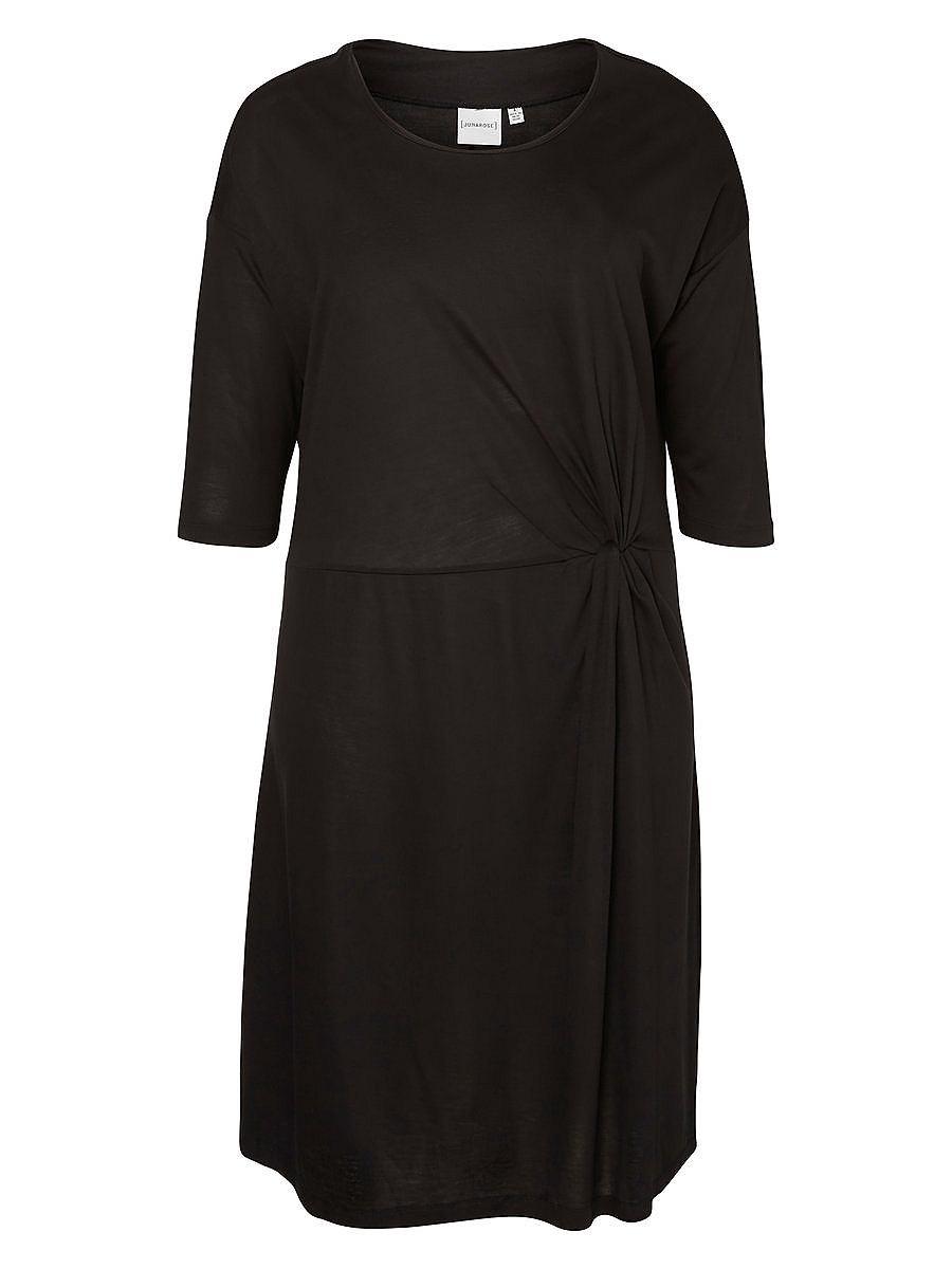 Junarose 3/4 mouw jurk zwart