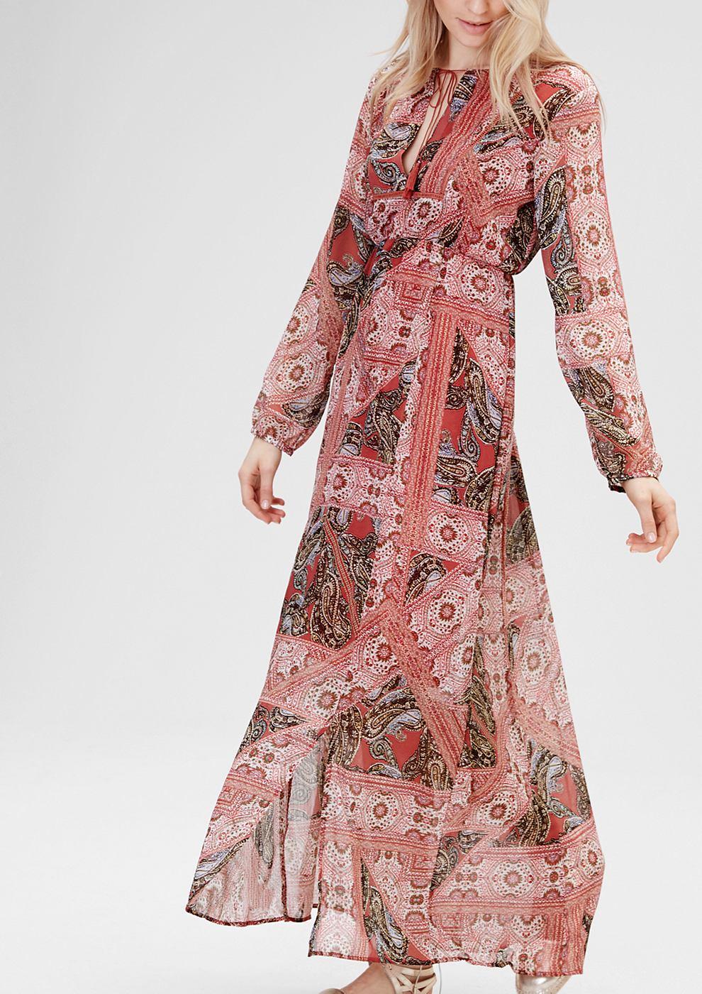 s.Oliver Maxi dress met paisley print rood