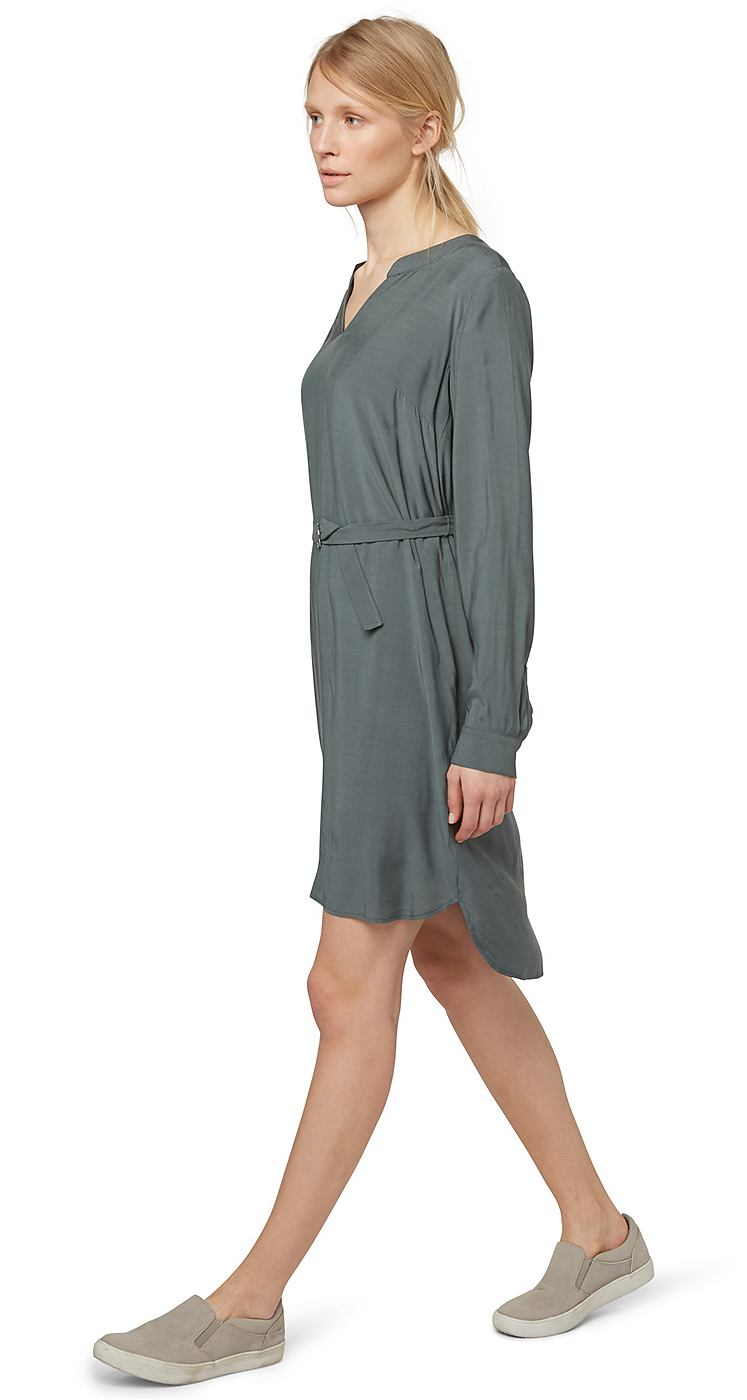 Tom Tailor jurk Elegant blouse dress groen