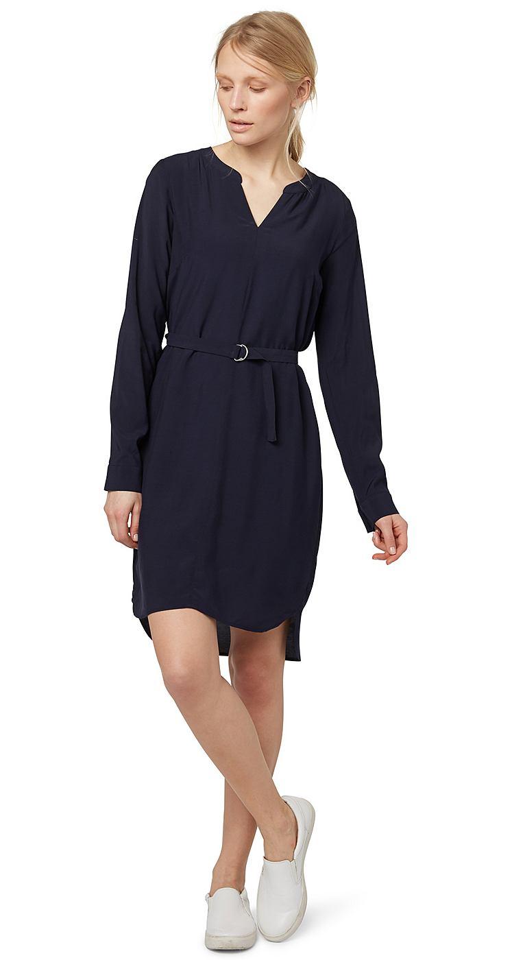 Tom Tailor jurk Elegant blouse dress blauw