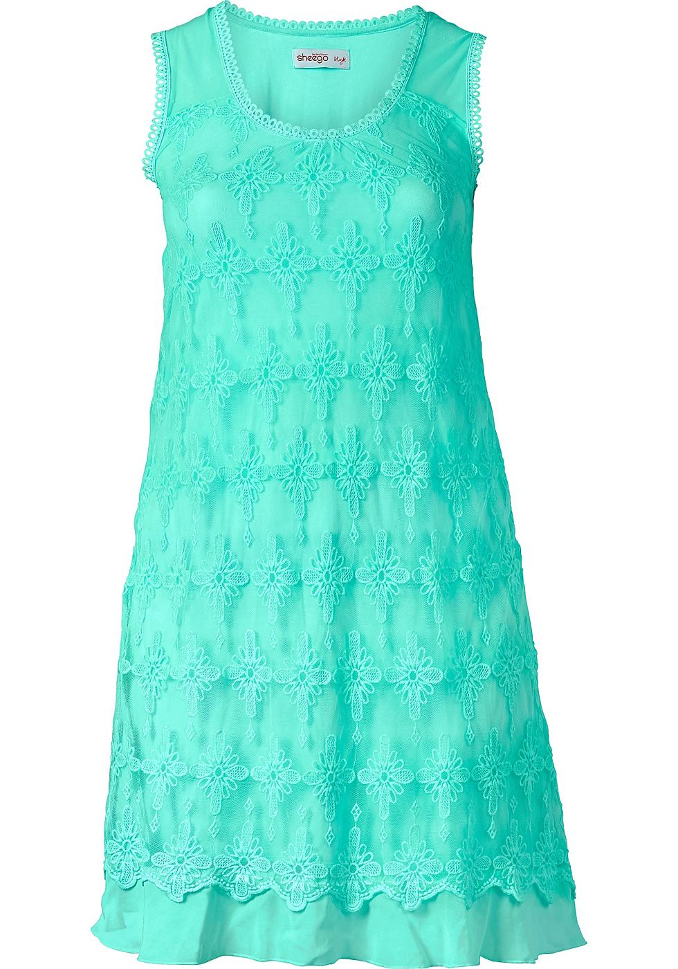 Sheego Style kanten jurk groen