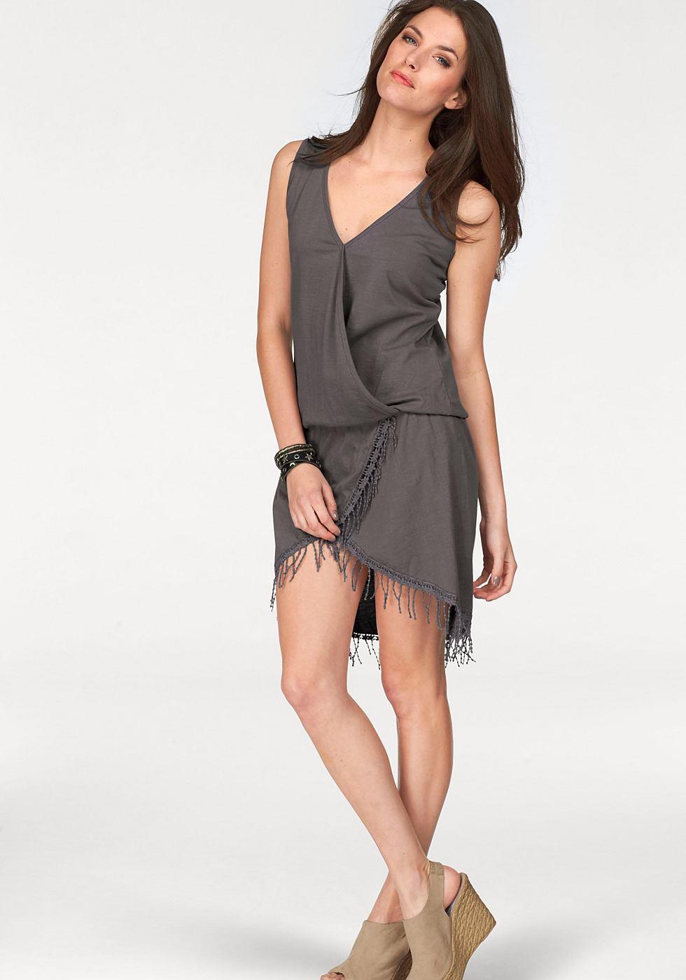 Aniston jerseyjurk grijs