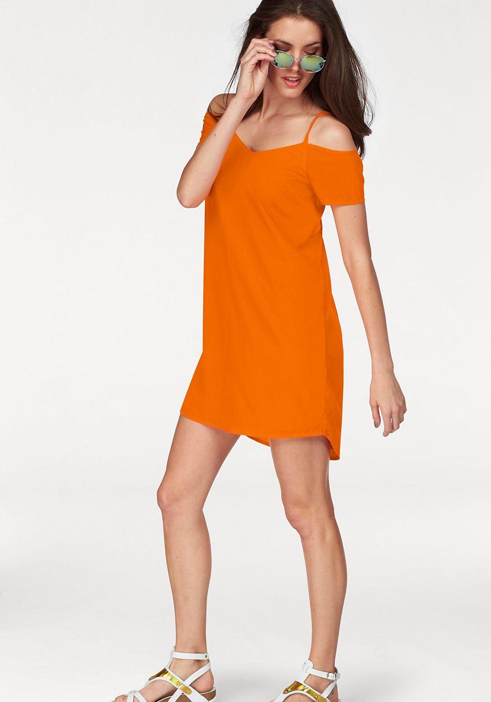 Aniston zomerjurk oranje