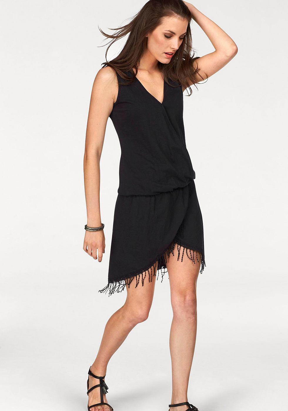 Aniston jerseyjurk zwart
