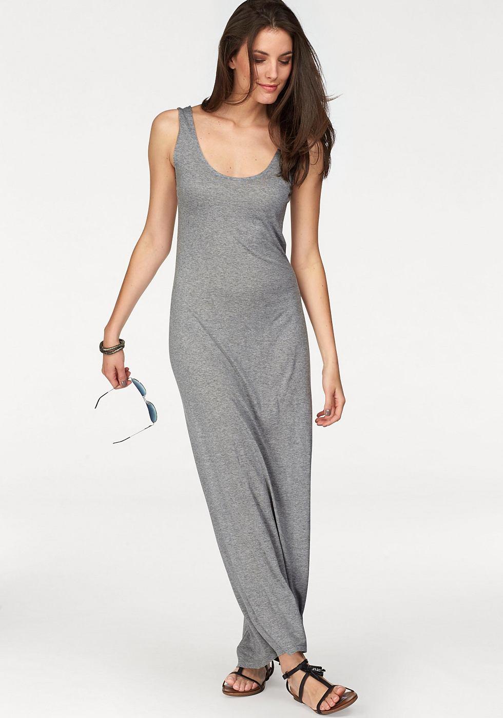 NU 21% KORTING: Aniston Maxi-jurk met brede bandjes grijs