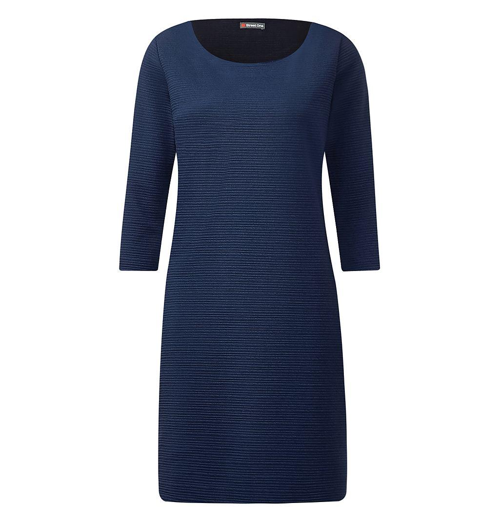 Street One Geribde jurk Ina blauw