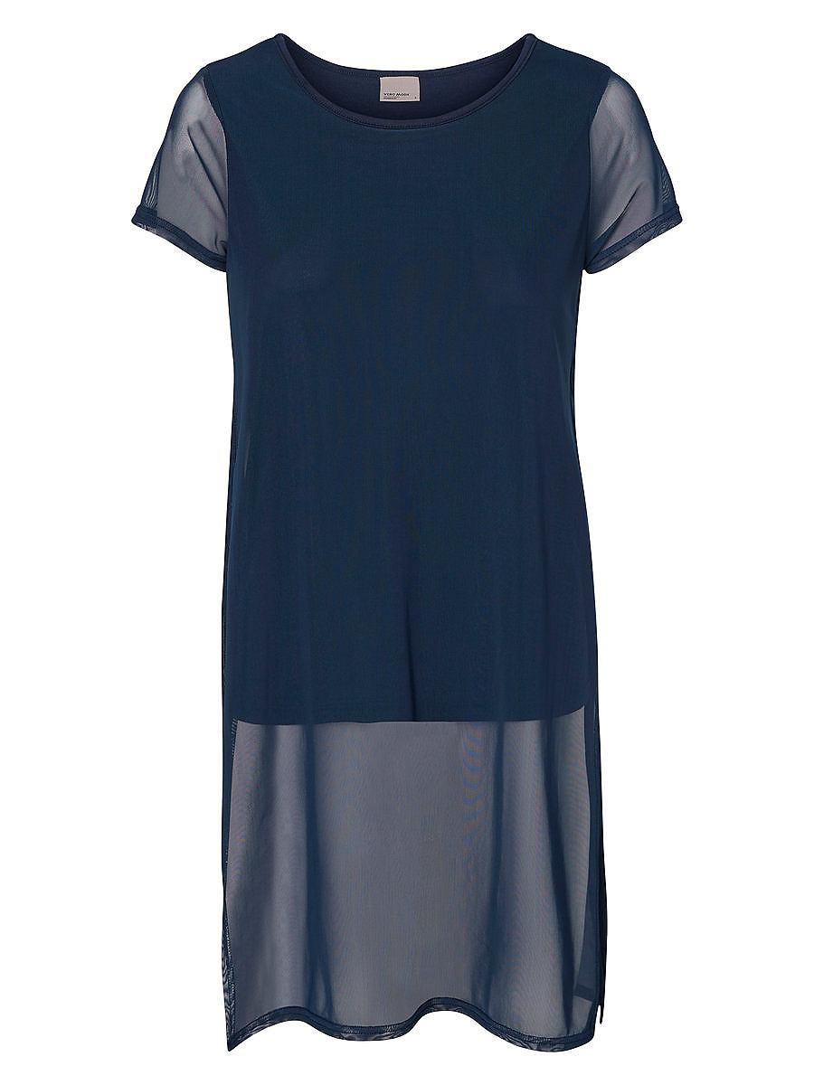 Vero Moda Korte mouw jurk blauw