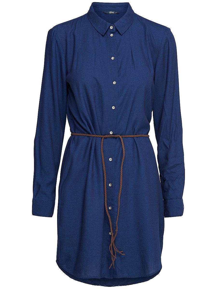 ONLY Hemd jurk blauw