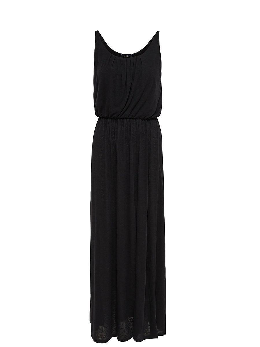 NU 15% KORTING: ONLY Mouwloze Maxi jurk zwart