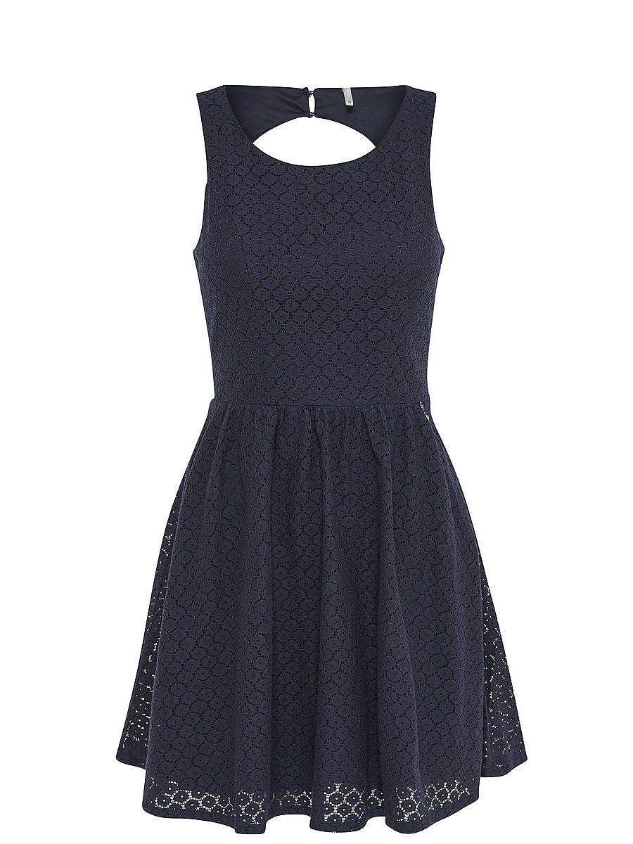 NU 15% KORTING: ONLY kanten Mouwloze jurk blauw