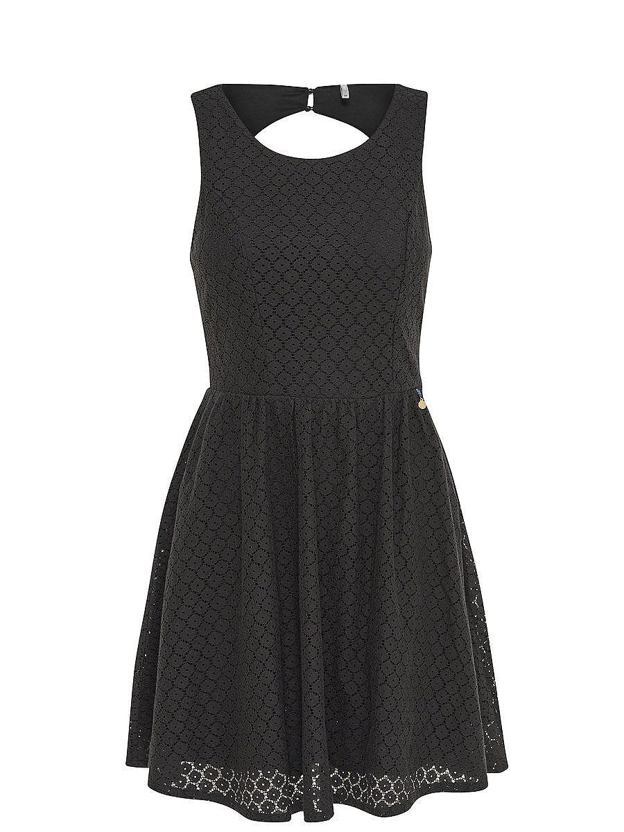 NU 15% KORTING: ONLY kanten Mouwloze jurk zwart