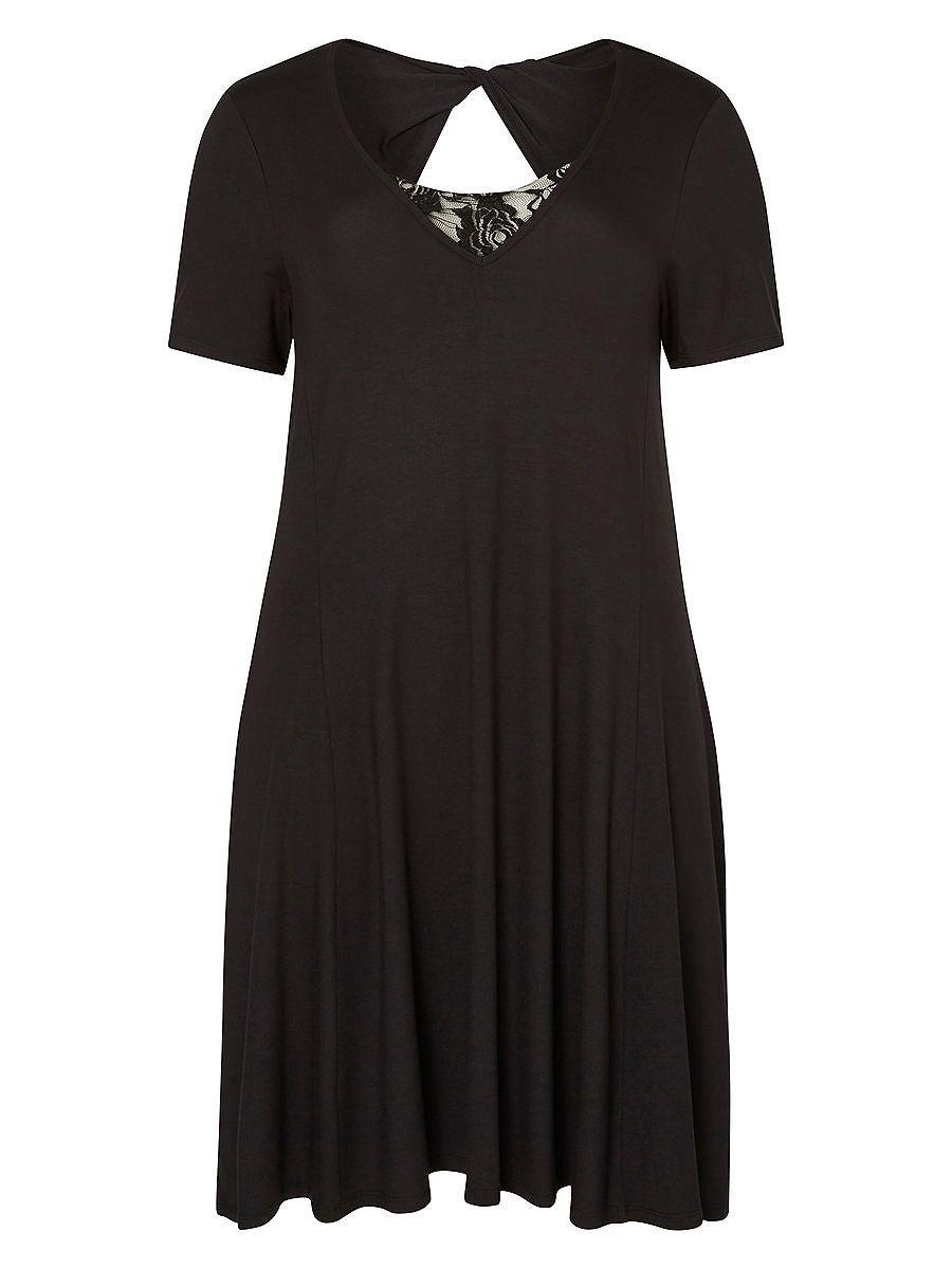 Junarose Kant gedetailleerde jurk zwart