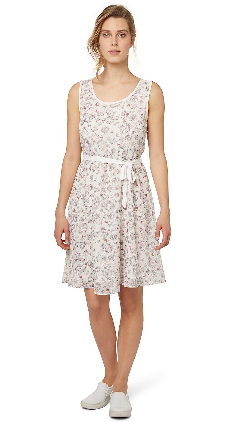 Tom Tailor jurk cute summer dress wit