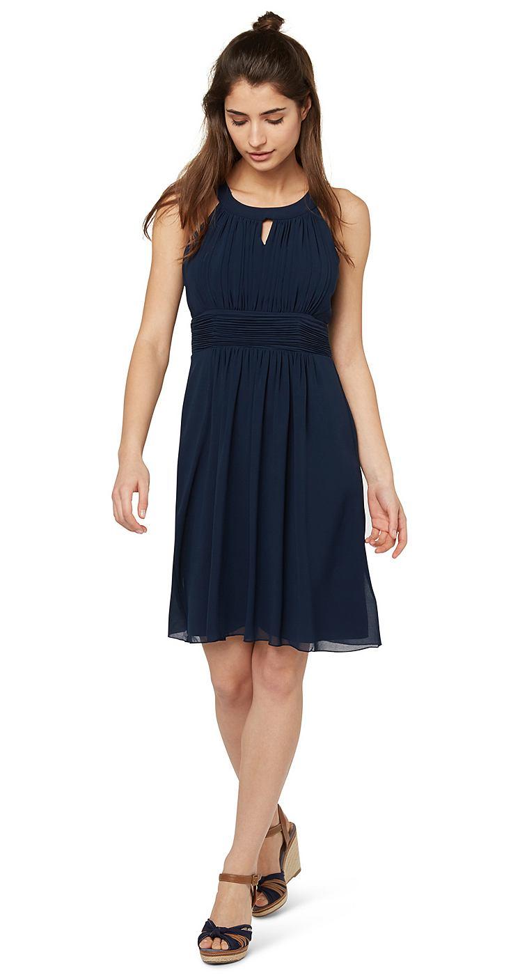 Tom Tailor jurk »elegant event dress« blauw