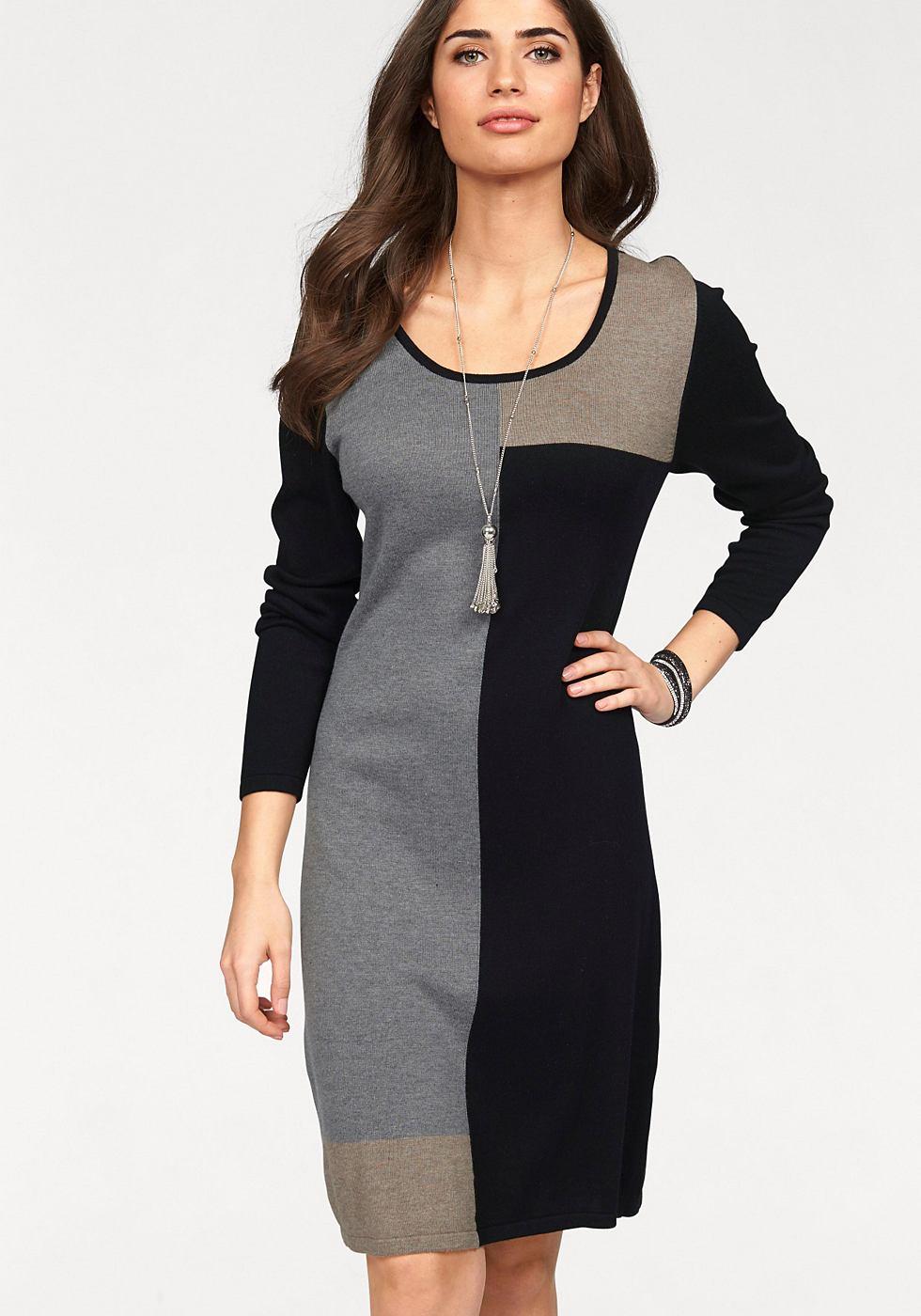 Boysen's Tricot-jurk in knievrije lengte zwart