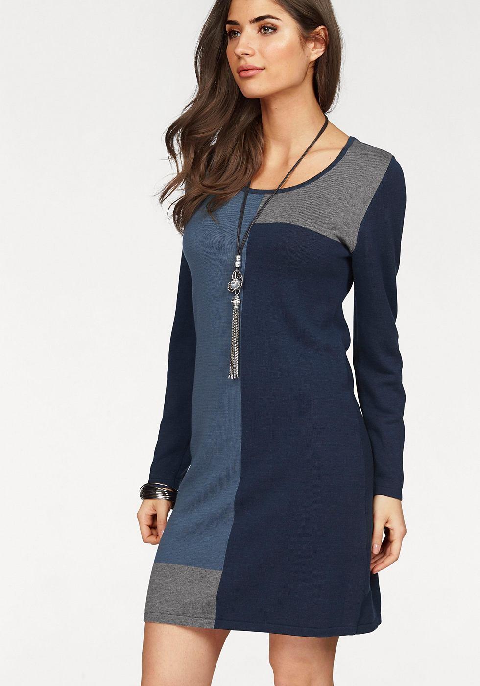NU 21% KORTING: Boysen's Tricot-jurk in knievrije lengte blauw