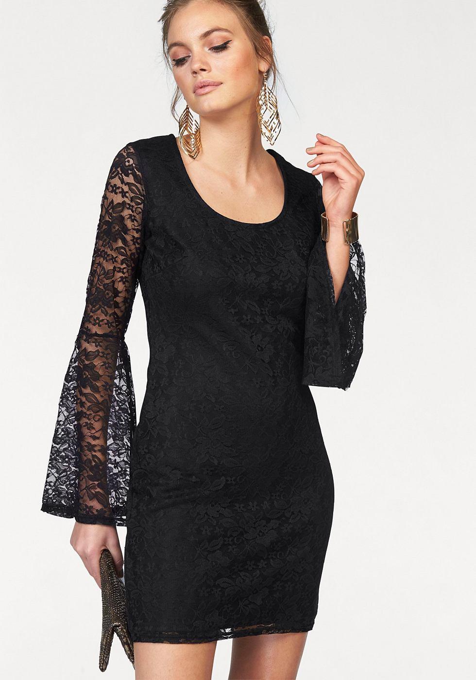 Melrose kanten jurk zwart