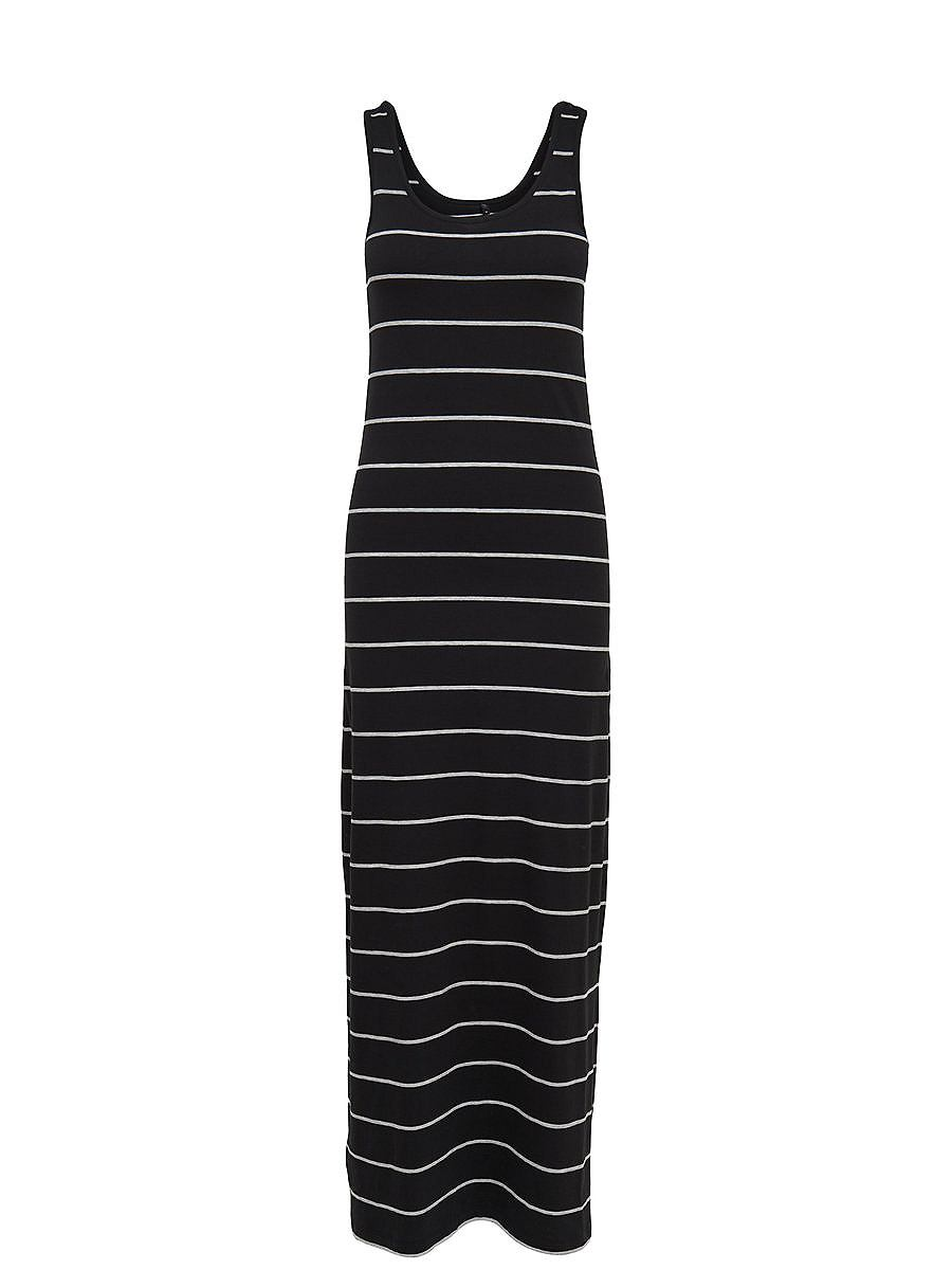 ONLY Gestreepte Maxi jurk zwart
