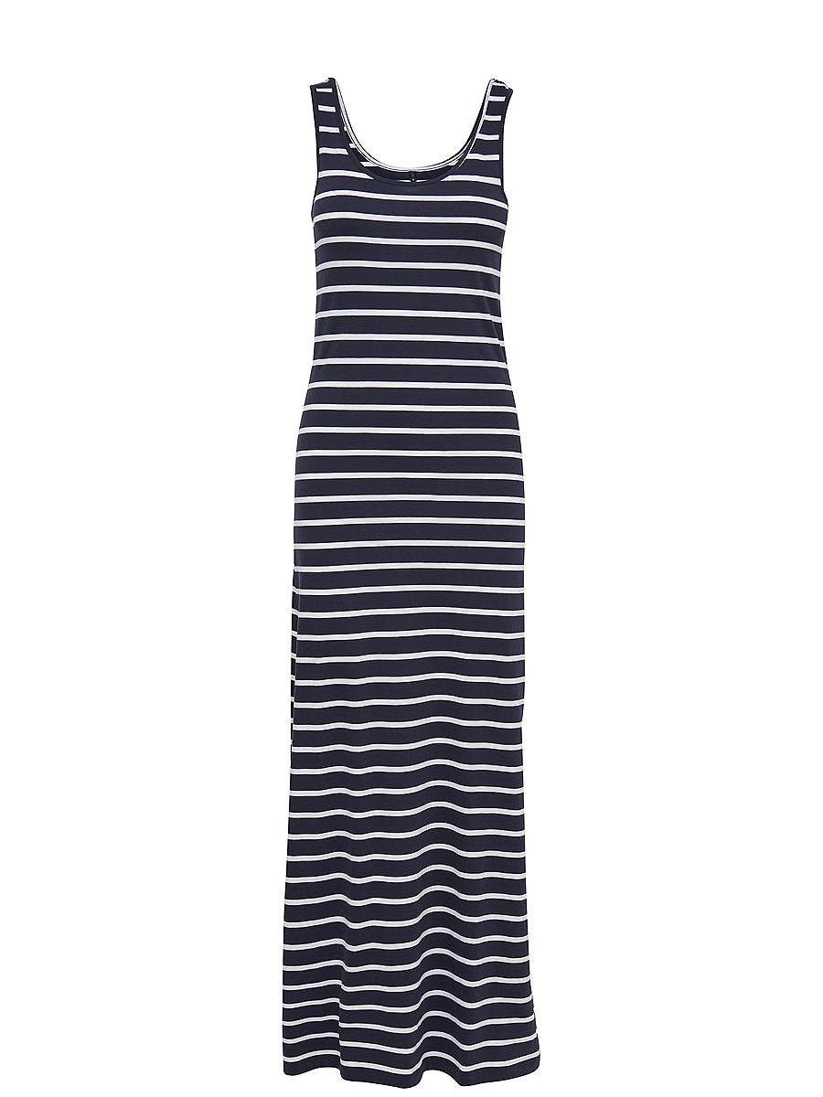 NU 15% KORTING: ONLY Gestreepte Maxi jurk blauw