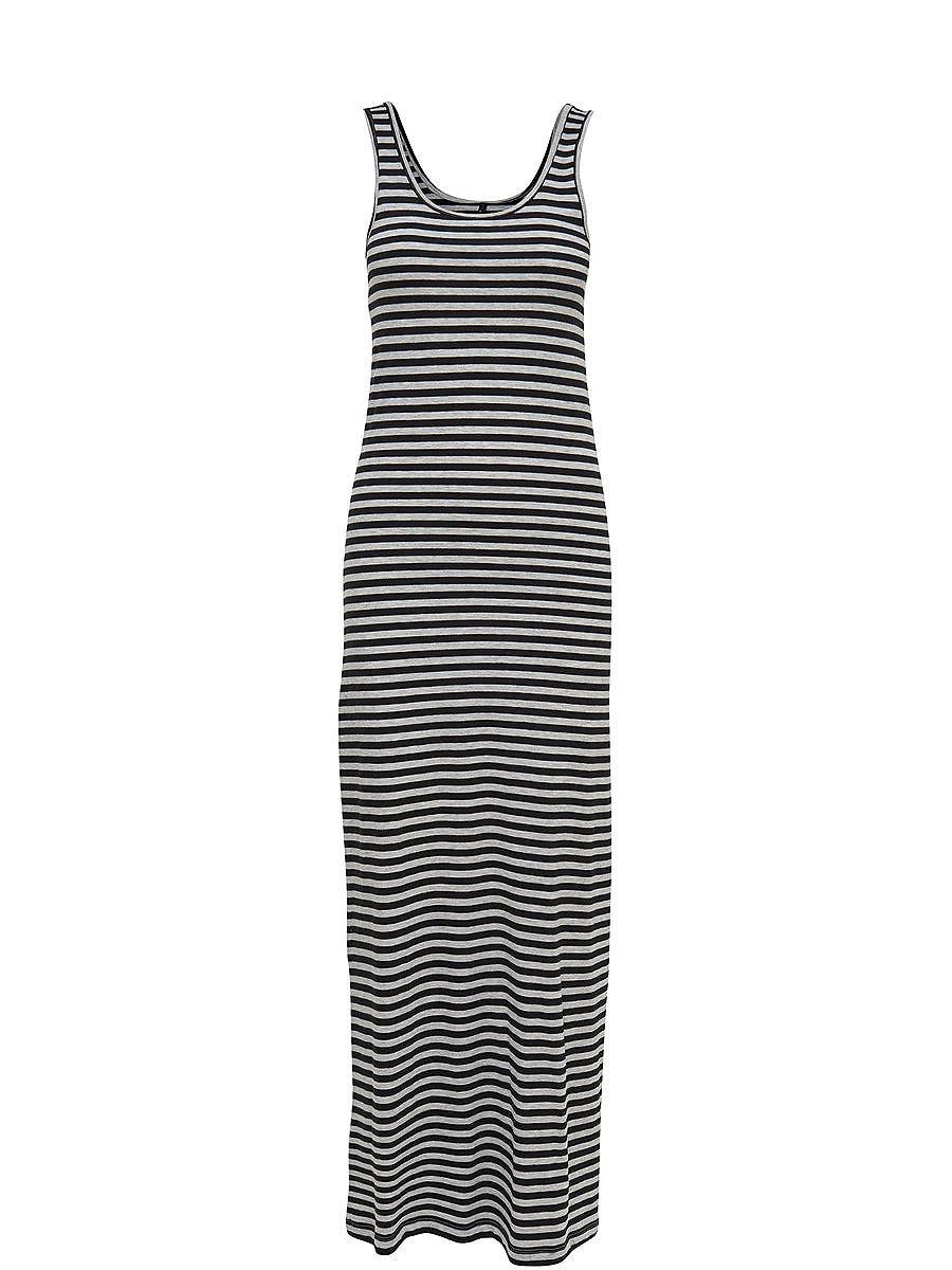 NU 15% KORTING: ONLY Gestreepte Maxi jurk zwart