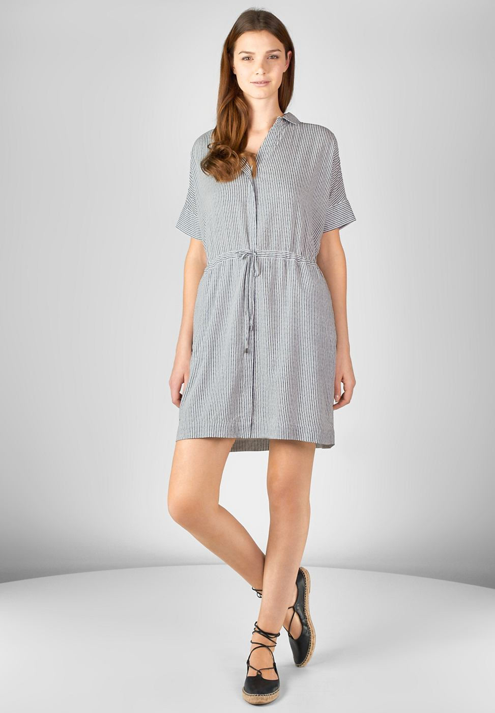 Street One Cool gestreepte jurk Orla wit