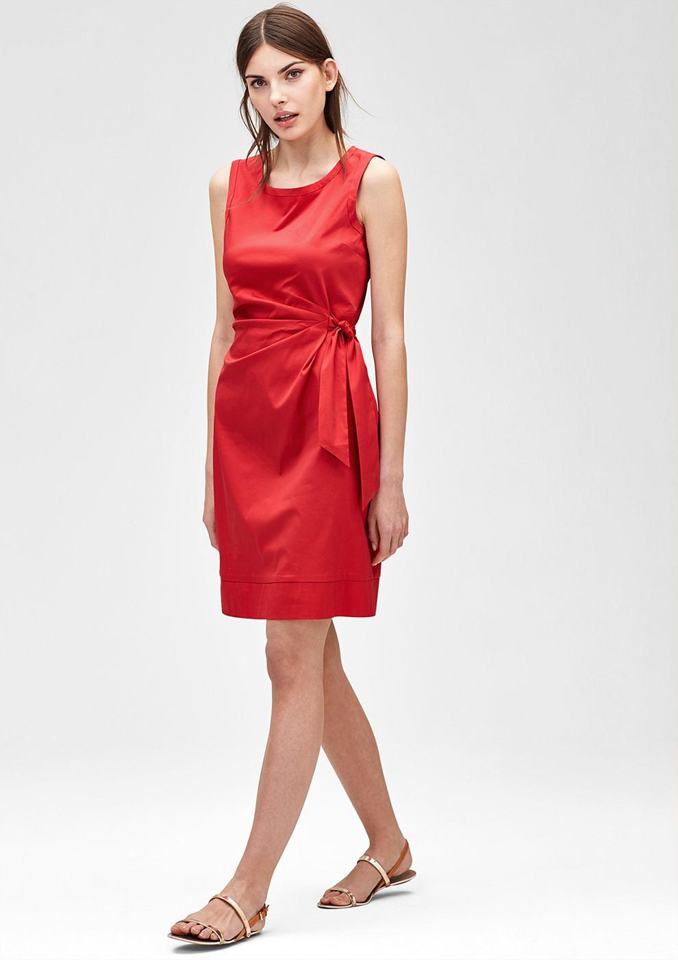 s.Oliver Premium jurk met gedrapeerd effect rood