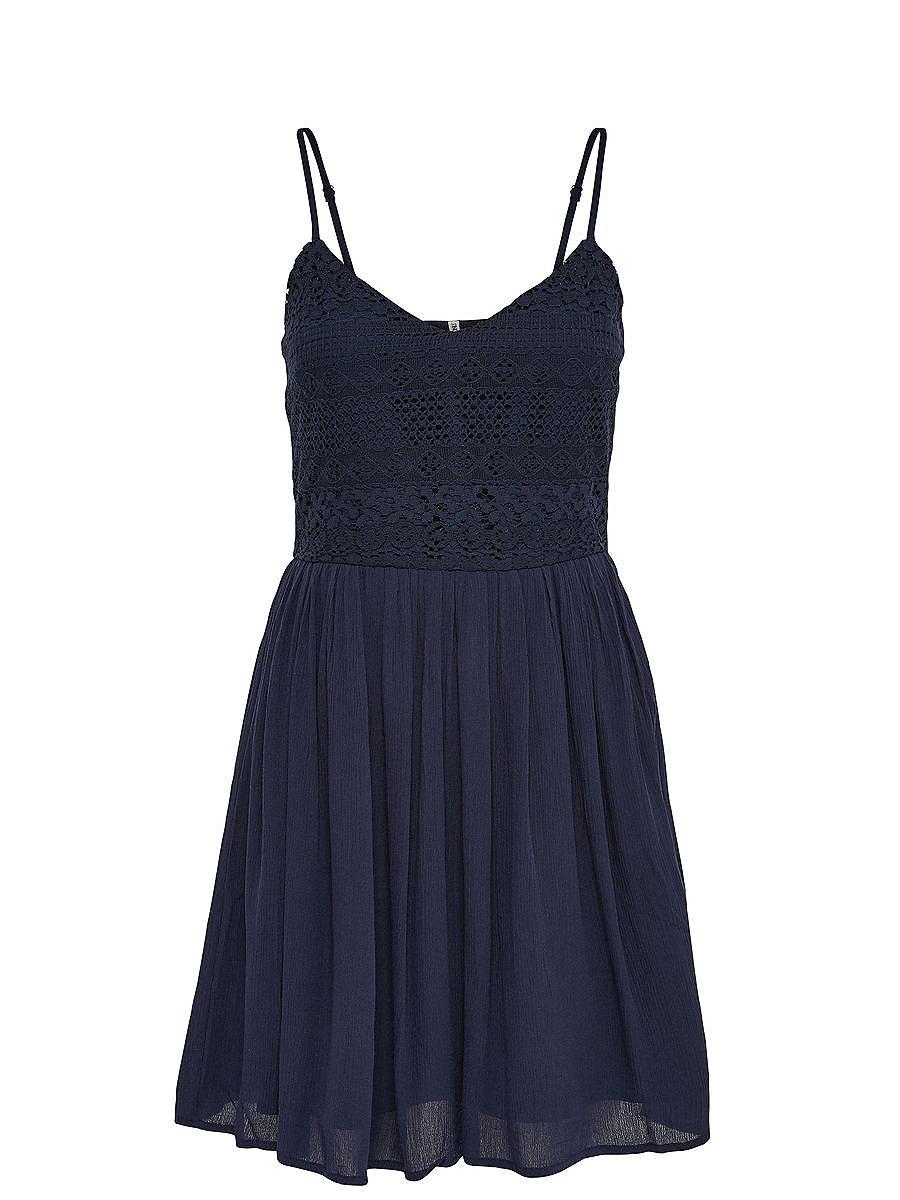 NU 15% KORTING: ONLY Gedetailleerde Mouwloze jurk blauw