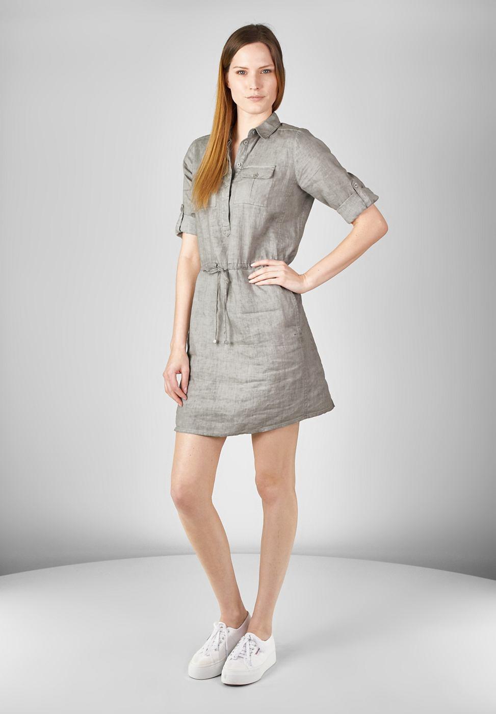 Street One Linnen jurk Ollie grijs