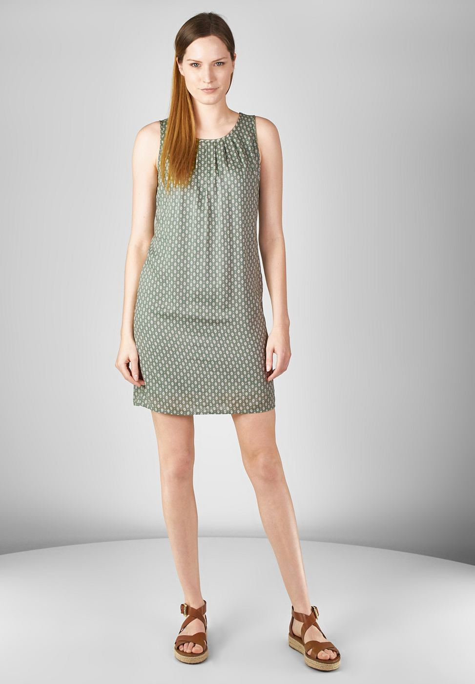 Street One Mouwloze jurk Olivia groen
