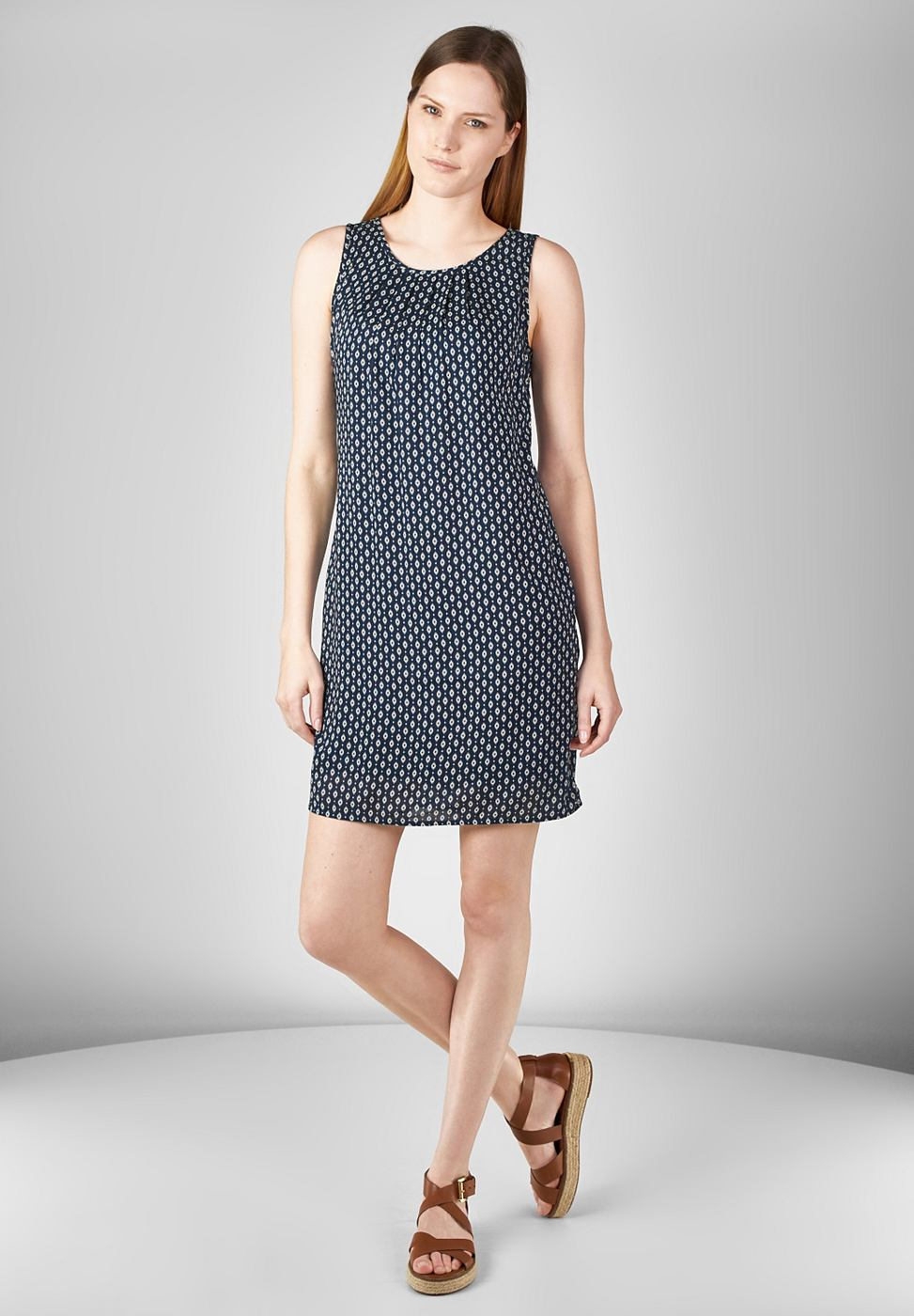 Street One Mouwloze jurk Olivia blauw