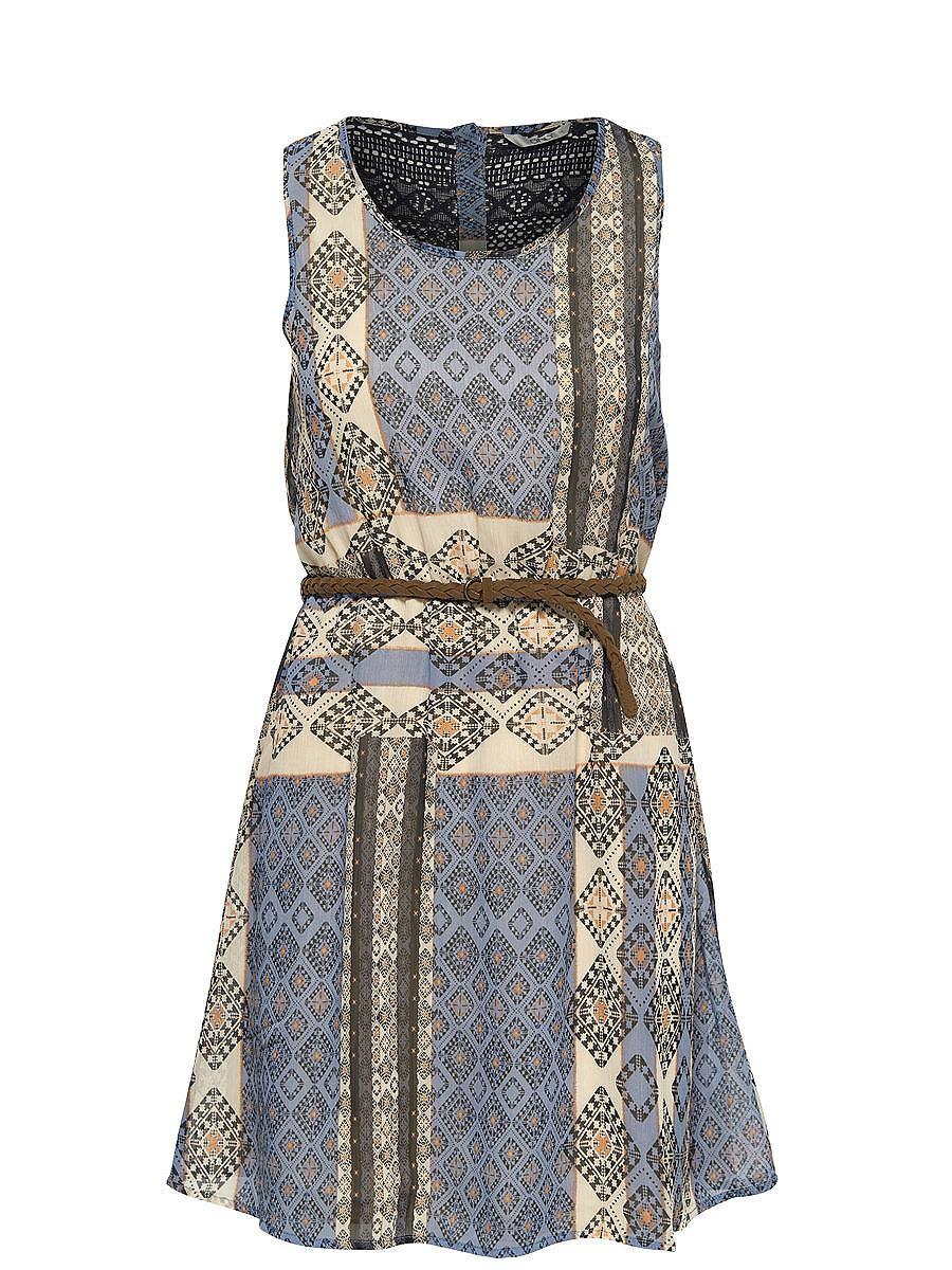 ONLY Print Mouwloze jurk grijs