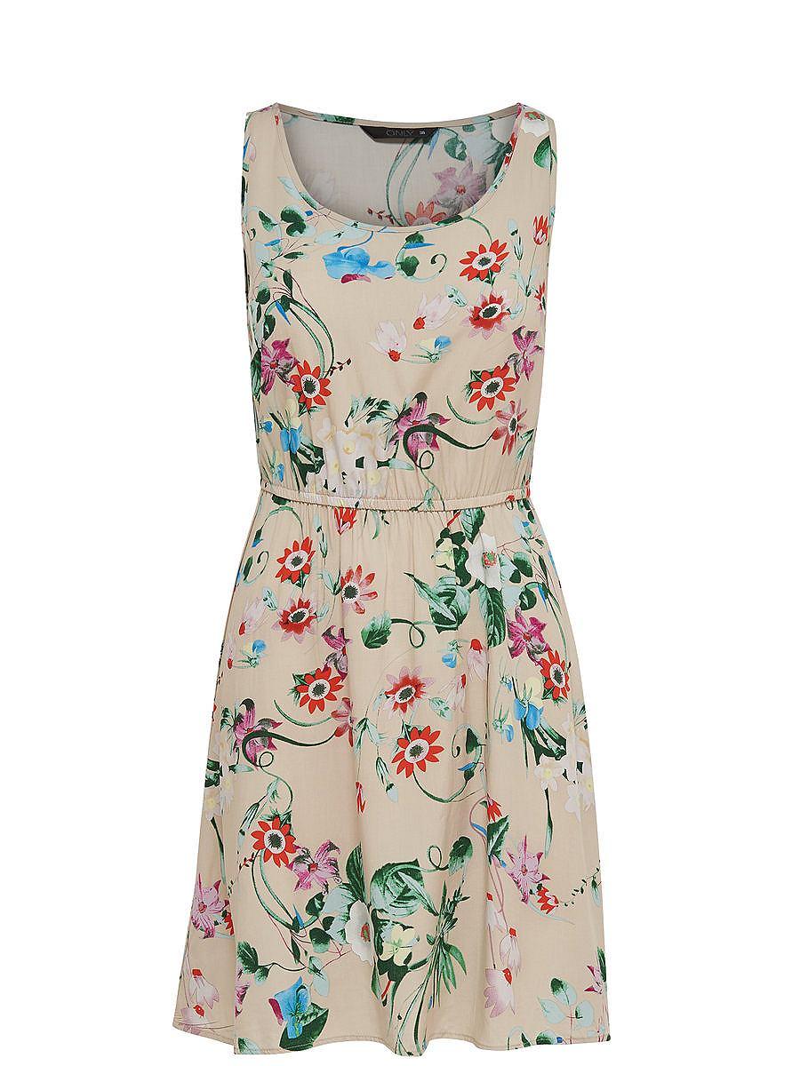 ONLY Print Mouwloze jurk wit