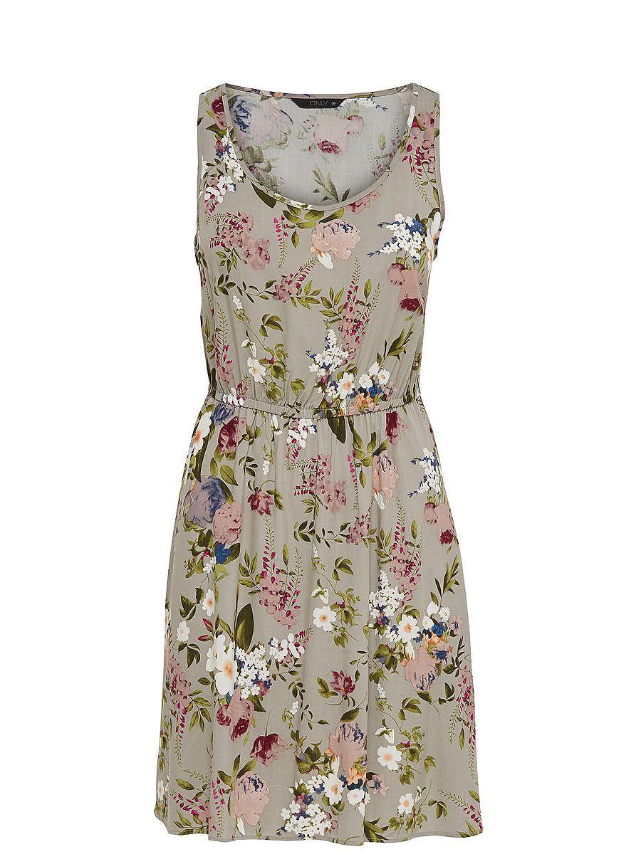 ONLY Print Mouwloze jurk groen